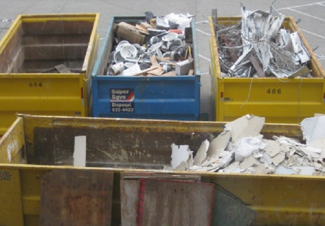 construction waste cropped